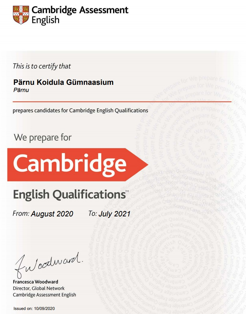Cambridge English Preparation Centres